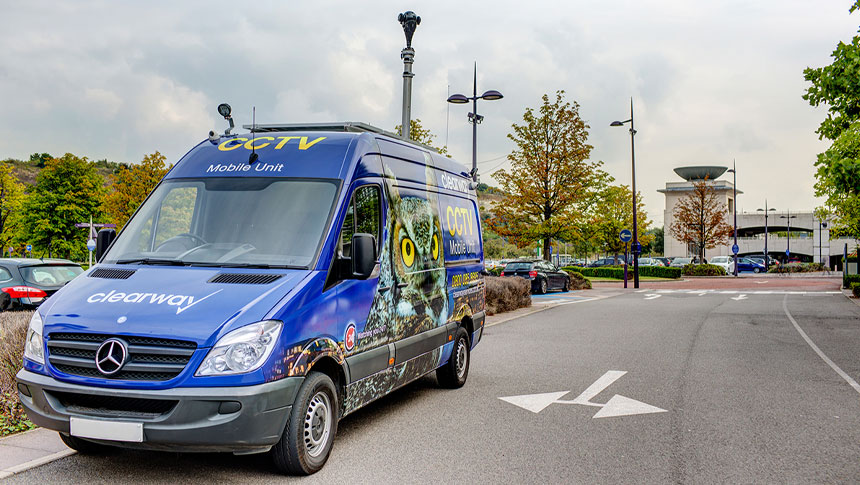 Spotted! Clearway's Mobile CCTV Unit At Bluewater Christmas Lights & Fireworks Display