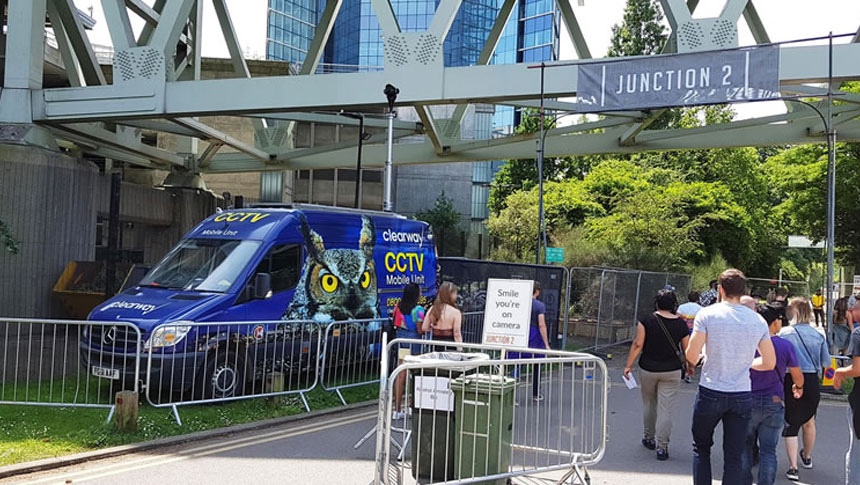 Spotted! Clearway's Mobile CCTV Unit At Junction 2 Festival In Middlesex