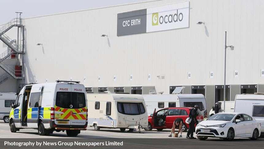 Intruder Invade Ocado's Depot In Dartford