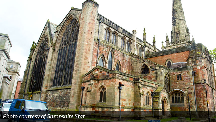 Thousands Of Pounds Worth Of Lead Stolen From Shrewsbury Church