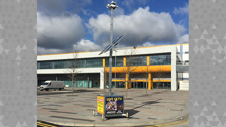 Clearway CCTV Towers Keep An Eye On Amazon Distribution Centre