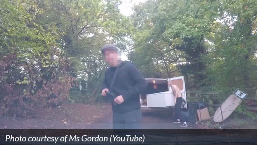 Three Men Caught On Dash-cam Fly-tipping