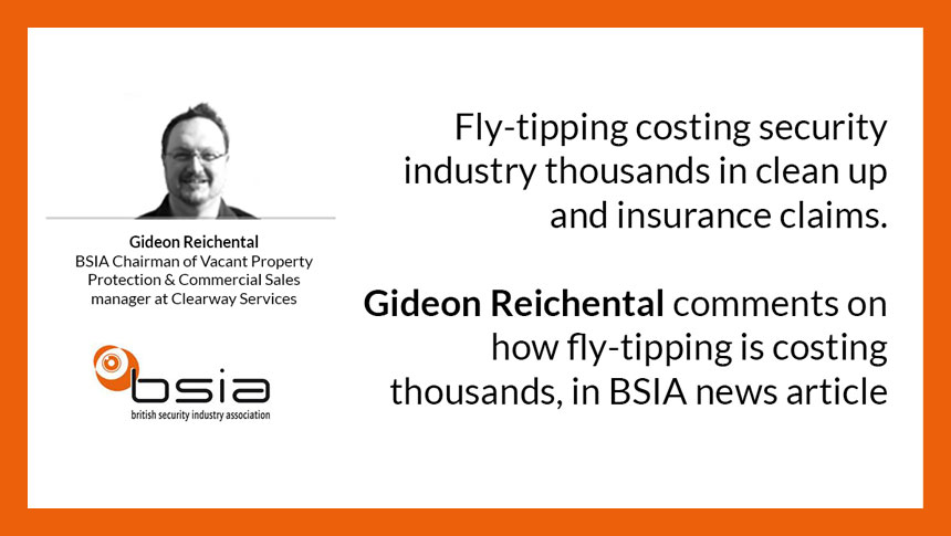 Gideon Reichental Comments On How Fly-tipping Is Costing Thousands
